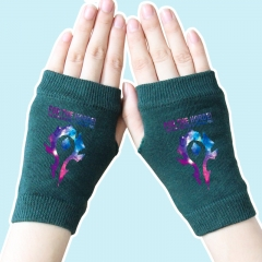 World of Warcraft Star Sky Marks Atrovirens Anime Knitted Gloves 14*8CM