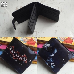 Batman Cosplay Colorful Folding Purse Anime Short Wallet