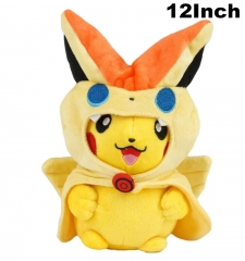 Pokemon Cosplay Smiling Pikachu For Kids Doll Anime Plush Toy