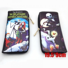 Nightmare Before Christmas Cartoon Purse Wholesale Anime PU Leather Long Wallet