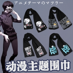 16 Styles Colorful Fashion Warm Anime Scarf