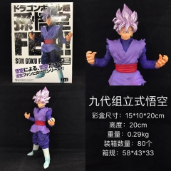 Dragon Ball Z Son Goku Pink Hair Cartoon Model Anime Action Figure 20cm 290g