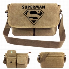 Marvel Justice League Superman Movie Crossbody Bags High Quality Anime Canvas Single-shoulder Bag