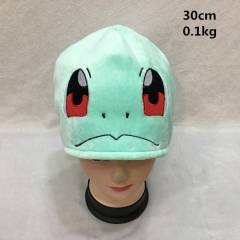 Japanese Cartoon Pokemon Anime Cute Squirtle Cosplay Plush Hat