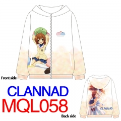 CLANNAD Japanese Adventure Game Warm Fashion Long Sleeve Anime Hoodie With Hat