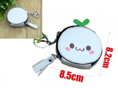 Cartoon Kaomoji Kun Anime PU Cute Leather Purse