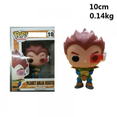 Funko POP Dragon Ball Z 10cm Planet Arlia Vegeta Q-version Cartoon Model Anime Figure 10# 140g