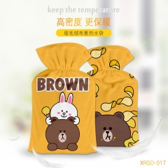 LINE Cartoon Hands Yellow Anime Hot-water Bag For Warm