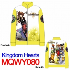 Kingdom Hearts Cartoon Pattern Long Sleeves Anime Zipper Hoodie (M-XXXL)