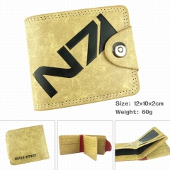 MASS EFFECT High Quality Cartoon Purse Wholesale PU Bifold Hasp Anime Wallet