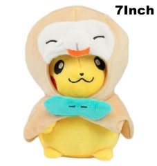 Pokemon Cosplay Pikachu Rowlet For Kids Doll Anime Plush Toy