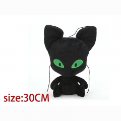 Miraculous Ladybug Black Cat Noir Cartoon Stuffed Doll Anime Plush Toys 30cm