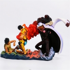 One Piece Cartoon Luffy And Ace,Sakazuki Anime Fancy PVC Figure Set 13CM