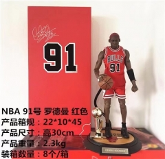 National Basketball Association All-Star Game #91 Dennis Rodman Red Jersey 30cm 230g
