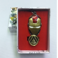 Iron Man Cosplay Movie Hollow Decoration Anime Necklace+Ring