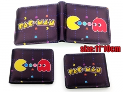 Pacman Game PU Leather Cartoon Cute Fancy Wallet