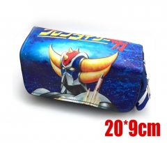 Mazinger Z Anime Good Quality Students PU Pencil Bag