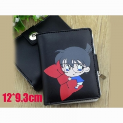 Detective Conan Cartoon Purse Wholesale Japanese Anime PU Leather Short Wallet