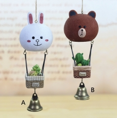 Line Bear Brown and Bunny Cony Anime Windbell Wind Chime