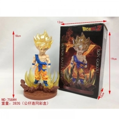 Dragon Ball Z Son Goku Cartoon Character Japanese Anime Figure 18cm 758#H