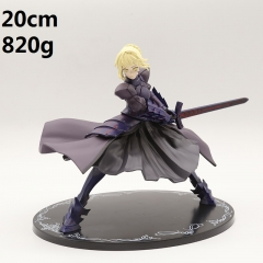 Fate Stay Night Black Saber Cartoon Toys Japanese Anime PVC Figure 20cm