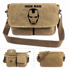 Marvel Iron Man Movie Crossbody Bags High Quality Anime Canvas Single-shoulder Bag