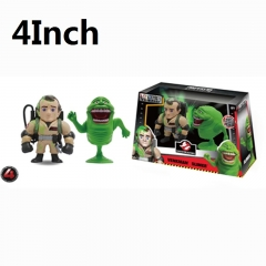 Ghostbusters Peter Venkman + Slimer Cartoon Toys Wholesale Anime Figure 4Inch