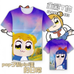Pop Team Epic Cosplay Cartoon For Girls Color Printing Anime T shirts