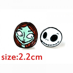 Nightmare Before Christmas Cassic Cartoon Pendant Anime Alloy Earring 2.2cm