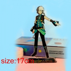 Vocaloid Yuezheng Longya Cartoon Acrylic Model Figure Double Side Printed Anime Standing Plates 17cm