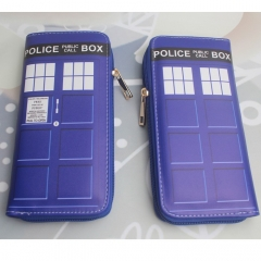 Doctor Who Cosplay Cartoon PU Coin Purse Anime Long Wallet