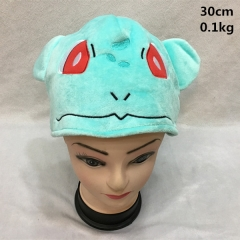 Japanese Cartoon Pokemon Anime Bulbasaur Cosplay Cute Plush Hat