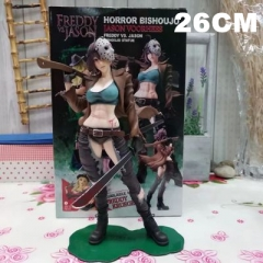 Freddy vs Jason Cosplay For Kid Cartoon Toy Anime Figure 26CM