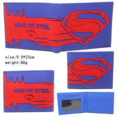 Superman Marks Blue Purse Anime Wallet