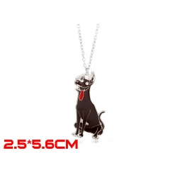 Coco Movie Fashion Jewelry Dog Model Pendant Anime Alloy Necklace 30g