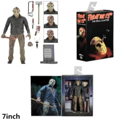 Neca Friday The 13th Jason Anime Cartoon Moveable PVC Action Figure