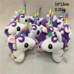 Japan Cartoon Unicorn Anime Cute Plush Purple Pendant 10pcs/set