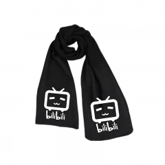 Bilibili Print Little TV Black Long Warm Anime Scarf