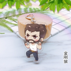 Movie Character Wolverine Anime Cute Design Acrylic Keychain