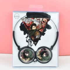Attack on Titan Cosplay For Listening With Headset Anime Headphone