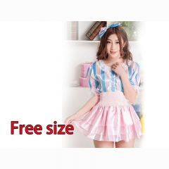 Super Sonico Hot Sale Wholesale Blue and Pink Anime Costume