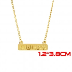 Riverdale Movie WEIRDO Jewelry Gold Anime Alloy Necklace 30g