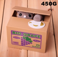 Grape Cat Funny Stealing Money For Kids Toy Anime Money Pot