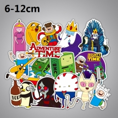 29pcs/set Adventure Time With Finn And Jake Cartoon Cute Funny Anime Stickers
