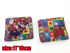 Famous Super Mario Bros. Game PU Leather Cheap Wallet