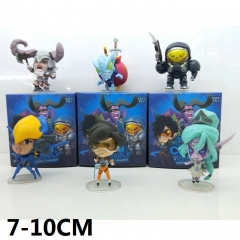 Overwatch 6pcs/set Cartoon Toys Wholesale Anime Figures 7-10CM