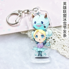 League Of Legends Game Anime Cute Girls Acrylic Keychain