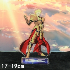 Fate Stay Night Gilgamesh Cartoon Toys Double Side Printed Anime Standing Plates Acrylic Figure