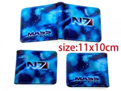 Mass Effect Cosplay Game PU Leather Purse Anime Wallet