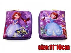 Sofia the First Anime PU Leather Cartoon Cute Wallet